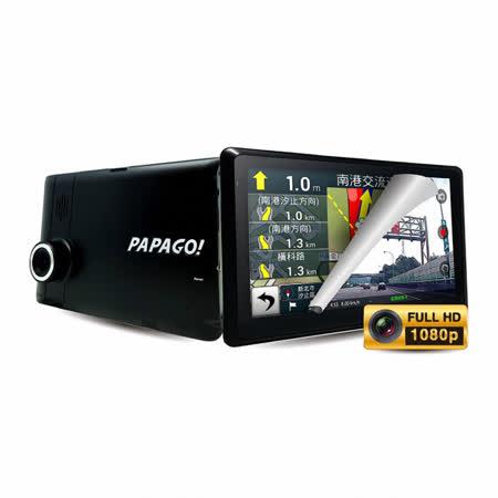 【PAPAGO】GoPad DVR 7 Wi-Fi +行車+聲控+導航+平板 五合一【加碼送32高速記憶卡+購物袋】