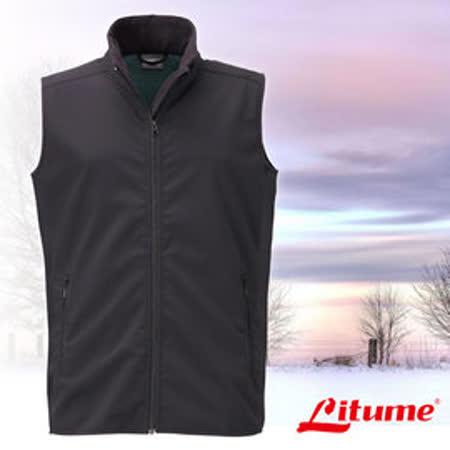 【意都美 Litume】男新款 Polartec Thermal Pro 類羊毛防風保暖背心)綠 P9161