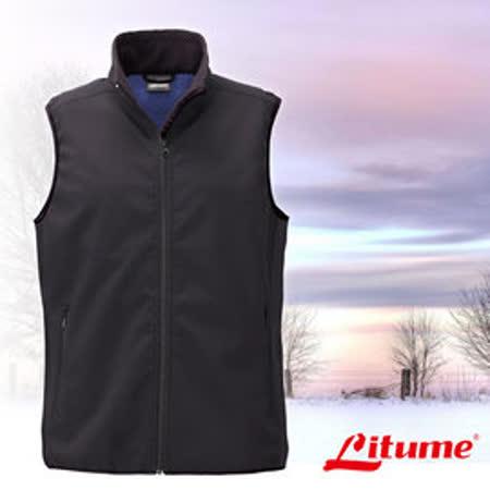 【意都美 Litume】男新款 Polartec Thermal Pro 類羊毛防風保暖背心_藍 P9161