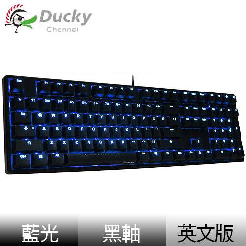 Ducky 創傑 One 黑軸 英文 藍光 黑蓋 機械式鍵盤