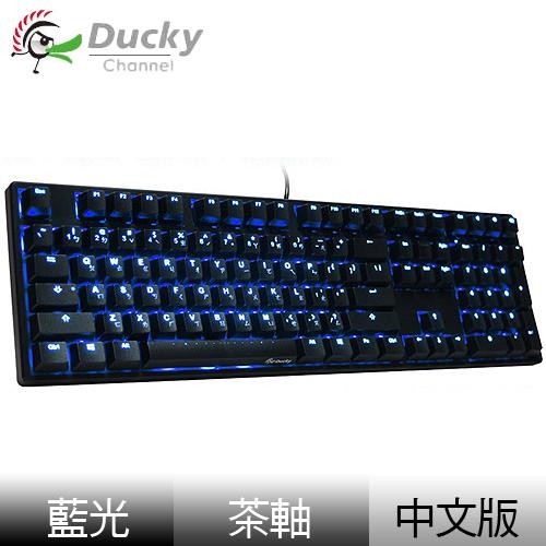 Ducky 創傑 One 茶軸 中文 藍光 黑蓋 機械式鍵盤