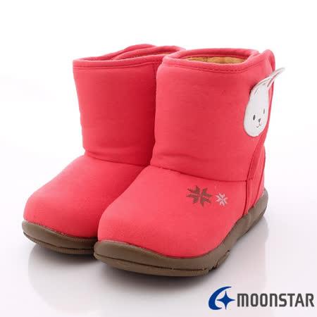 日本Carrot機能童鞋-可愛免雪靴款NB122紅(寶寶段)-(13cm-14.5cm)