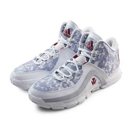 (男)ADIDAS J WALL 2 籃球鞋 白/淺紫/紅-S85573
