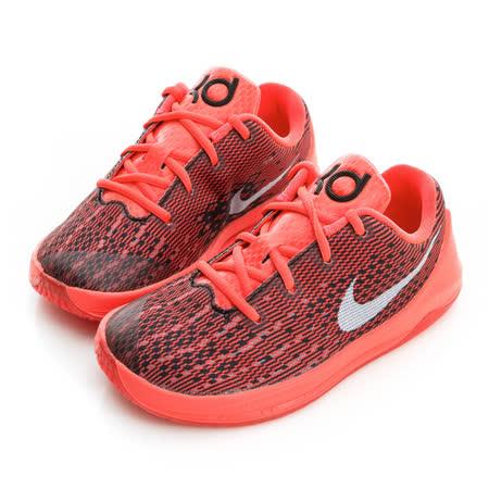 NIKE (童)籃球鞋-橘紅-768869610