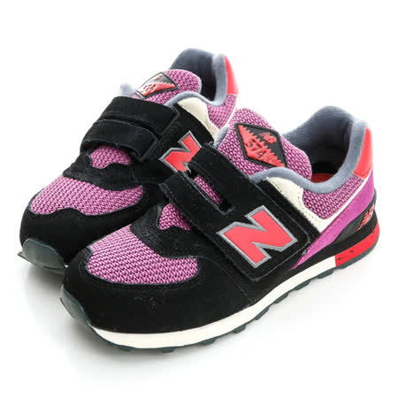 New Balance (童)慢跑鞋-黑-KV574K1Y