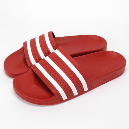 adidas (男)/(女)拖鞋-紅-288193