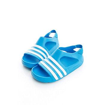 adidas (童)涼鞋-藍-B24595