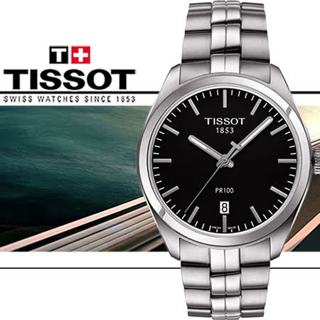 TISSOT PR100 黑色經典時尚女用腕錶-黑/39mm/T1014101105100