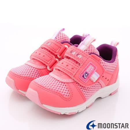 日本Carrot機能童鞋-輕透穩定款-C207534櫻桃-(15cm-20cm)