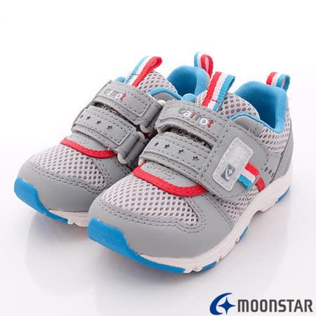 日本Carrot機能童鞋-輕透穩定款-C207537灰-(18cm-20cm)