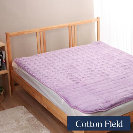 棉花田【暖心】超細纖維暖腳雙人加大保暖墊-粉紫色