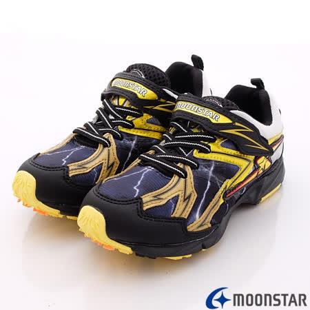 日本Carrot機能童鞋-全新彈力閃電款-SSJ6176黑-(19cm-23cm)
