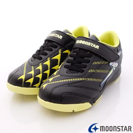 日本月星頂級競速童鞋-360動能推進足球款-6396黑-(19cm-24.5cm)