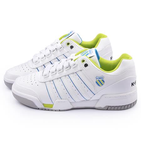 K-SWISS 男款 GSTAAD 經典網球鞋01734-189-白綠
