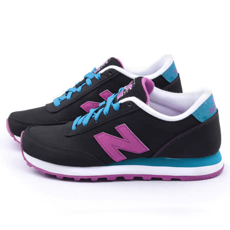 New Balance 女款 復古運動鞋WL501SLA-黑藍