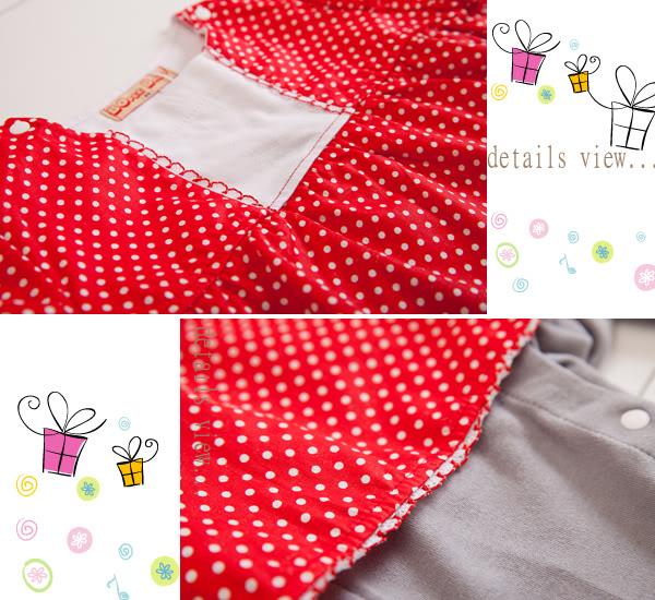 ☆BOLLA2 ☆荷葉公主袖甜美洋裝式純棉假3件連身衣