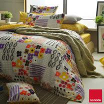 La mode寢飾環保印染精梳棉兩用被床包組(雙人)★任選2組