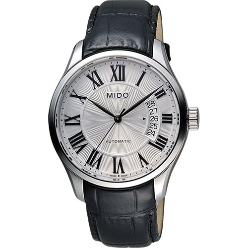 MIDO Belluna II Gent 羅馬機械腕錶~銀x黑40mm M02440716