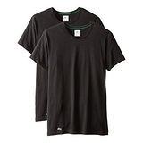 【Lacoste】2015男時尚純棉彈性黑色圓領短袖內衣2件組(預購)
