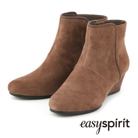 【真心勸敗】gohappy線上購物Easy Spirit-- 簡約素雅麂皮皮革坡跟短靴--麂皮駝有效嗎板橋 百貨 公司