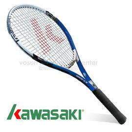 【日本 KAWASAKI】川崎 Power 3D強化鋁合金網球拍(已穿線/附3/4拍套)_藍 KP1200BL