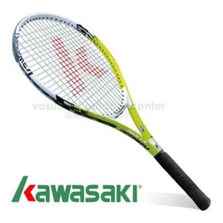 【日本 KAWASAKI】川崎 Power 3D強化鋁合金網球拍(已穿線/附3/4拍套)_綠 KP1200GR