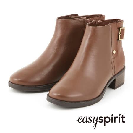 【真心勸敗】gohappy 購物網Easy Spirit--個性品味異材質拼接扣飾短靴--雅致咖評價如何台北 崇光 百貨