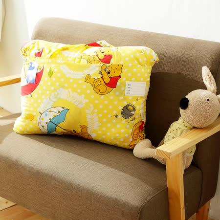 HO KANG 迪士尼授權 雪紡棉兒童睡袋-維尼飄飄樂
