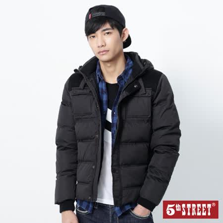 5th STREET 配布羽絨外套-男-黑色