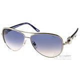 CHOPARD太陽眼鏡 奢華鑲鑽飛官款(銀-斜紋黑) #CPA60S 0589