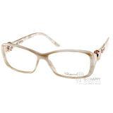 CHOPARD眼鏡 頂級典雅鑽飾款(貝殼珍珠白) #CP140S 09P9