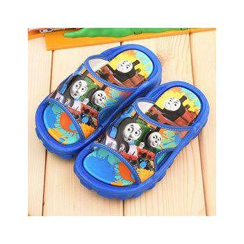童鞋城堡 湯瑪士 中大童 滿版塗鴉戶外拖鞋 TH1539-藍