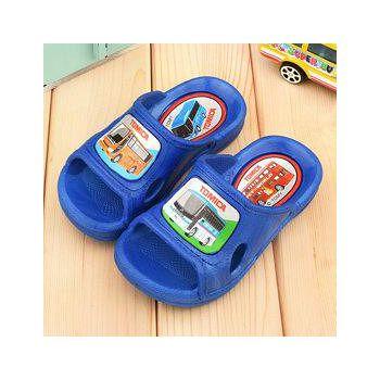 童鞋城堡 Tomica多美小汽車 中大童 一體成型男童拖鞋 TM0860-藍