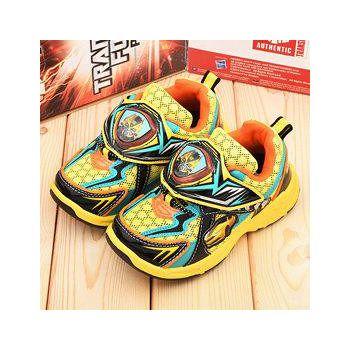 童鞋城堡 變形金剛 中大童 LED電燈透氣運動鞋 TF5168-黃