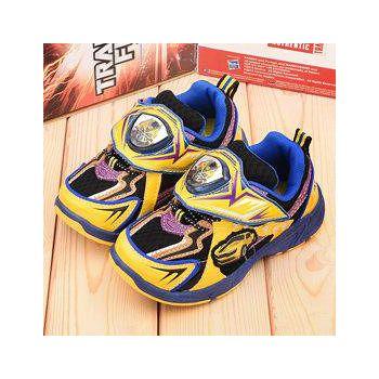 童鞋城堡 變形金剛 中大童 LED電燈透氣運動鞋 TF5187-黃藍