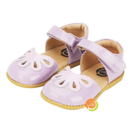 美國LIVIE&LUCA 幼小中童花瓣可愛涼鞋-紫 L5S6-Z003-1