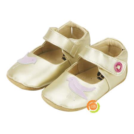 美國LIVIE&LUCA 寶寶鳥啾學步鞋-金 L5S6-Z004