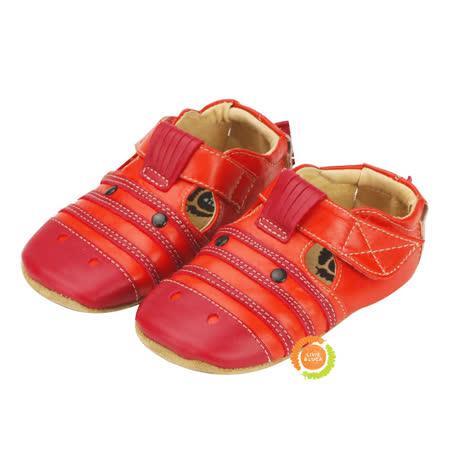 美國LIVIE&LUCA 可愛斑馬寶寶學步鞋-紅 L5S6-Z005