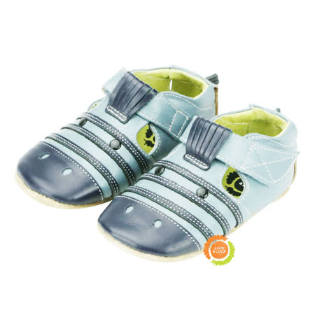 美國LIVIE&LUCA 可愛斑馬寶寶學步鞋-藍 L5S6-Z005