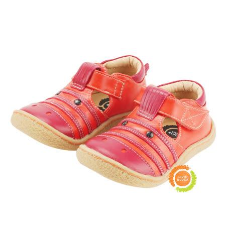 美國LIVIE&LUCA 可愛斑馬小中童娃娃鞋-紅 L5S3-Z005-1