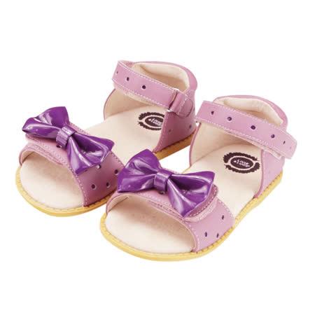美國LIVIE&LUCA 公主迷妮小中大童涼鞋-紫 L5S2-Z019