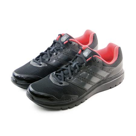 (男)ADIDAS DURAMO 7 M 慢跑鞋 黑/橘紅-AF5894