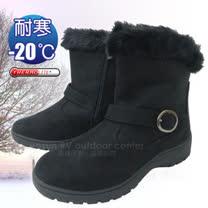 【甜美簡約】女新款 低筒專業保暖雪鞋、雪靴(附冰爪)_黑色 SN211