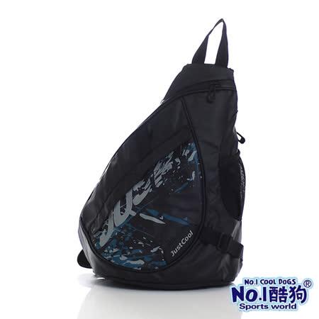 【AOU】酷狗系列 單肩後背包 休閒背包(黑色7800-165)