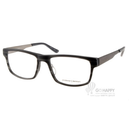Prodesign Denmark眼鏡 質感百搭款(灰黑) #PRO1730-1 C6524