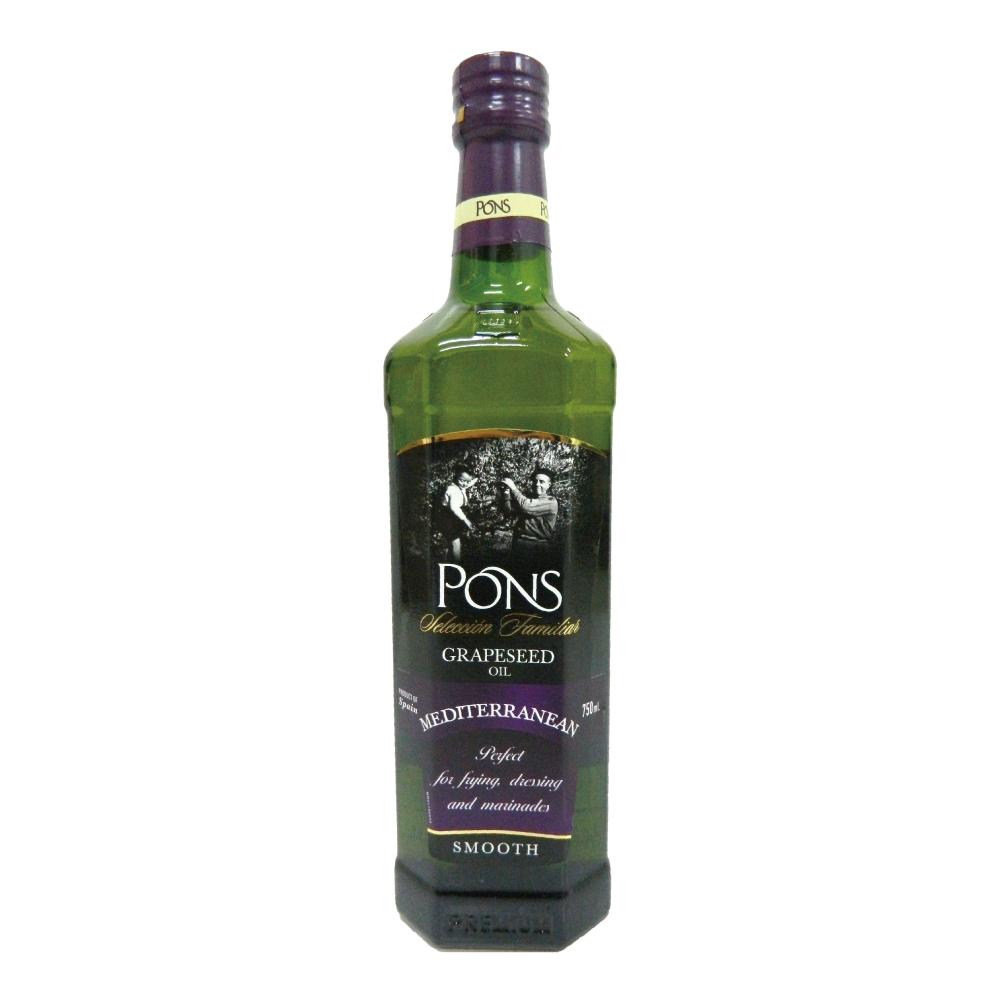【PONS】西班牙原裝進口精選葡萄籽油(750ml)1入