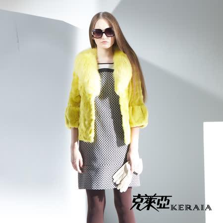 克萊亞KERAIA 幾何拼接短袖洋裝