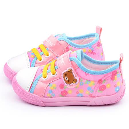 童鞋城堡-拉拉熊 中童 甜美可愛帆布休閒鞋KM82018-粉