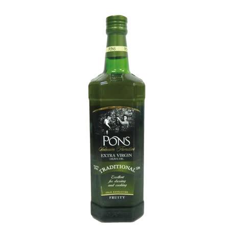 【PONS】西班牙原裝進口特級處女果香橄欖油1LX1