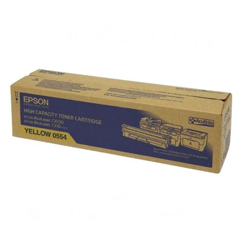【EPSON 碳粉匣】 S050554 黃色原廠碳粉/AL-C1600/CX16NF